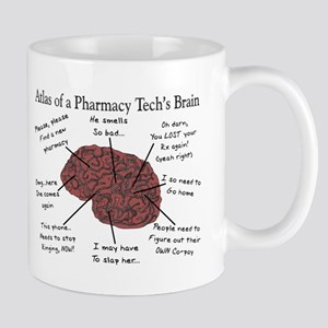 Atlas of a pharmacy techs brain Mugs